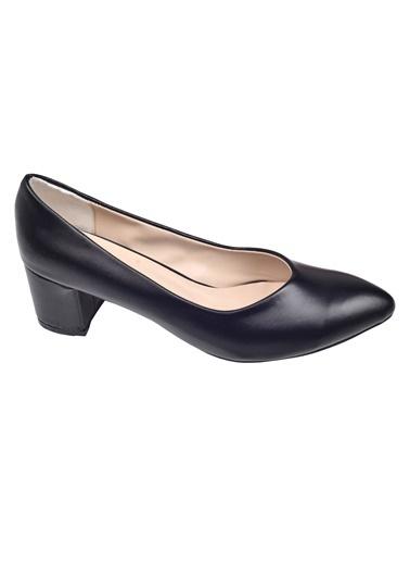 Ayakland Ayakland Alens 233 Büyük Numara 6 Cm Topuk Bayan Parlak Ayakkabı Siyah